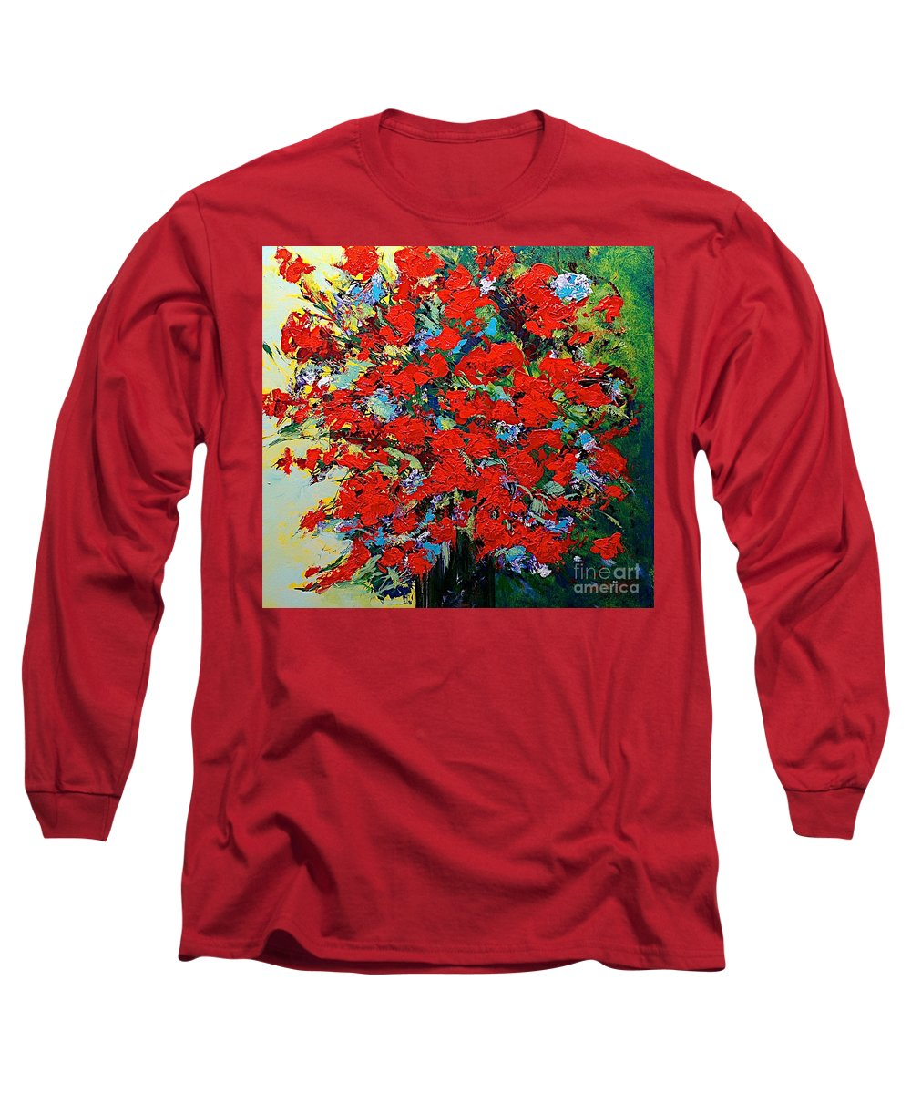 Landscape Long Sleeve T-Shirt featuring the painting One Of A Kind by Allan P Friedlander