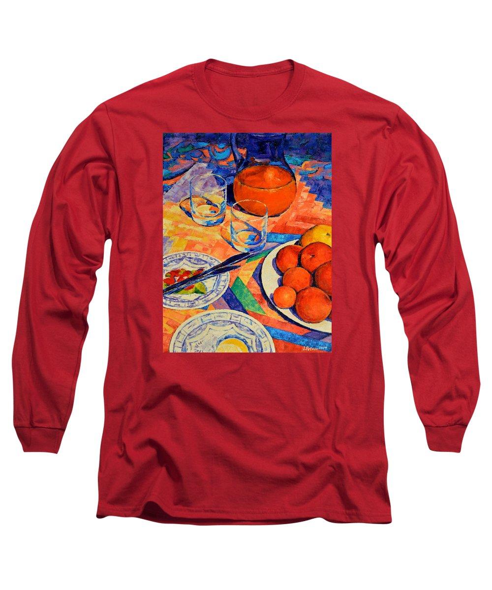 Still Life Long Sleeve T-Shirt featuring the painting Still Life 1 by Iliyan Bozhanov