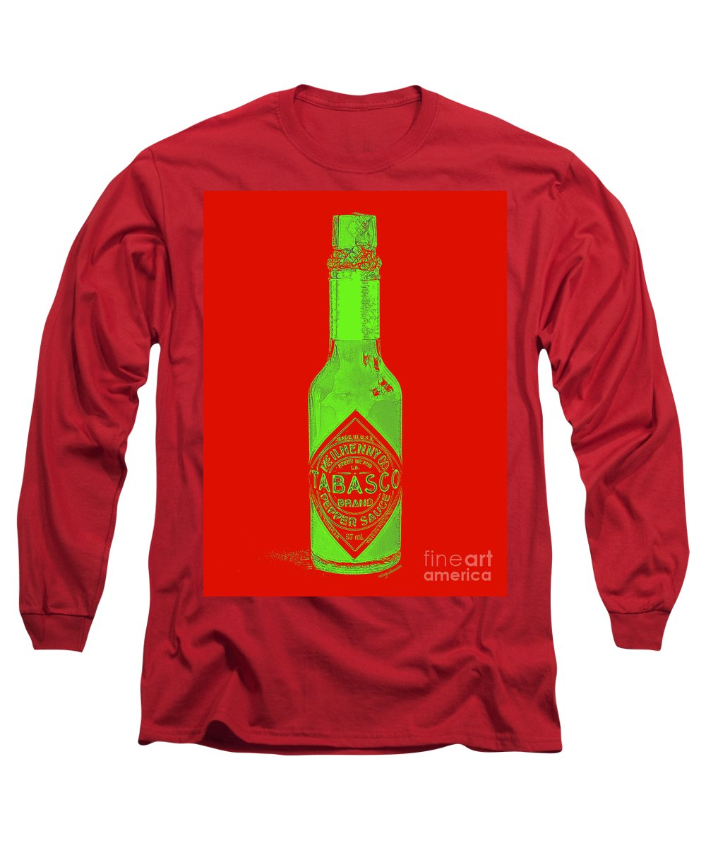 Wingsdomain Long Sleeve T-Shirt featuring the photograph Tabasco Sauce 20130402grd3 by Wingsdomain Art and Photography