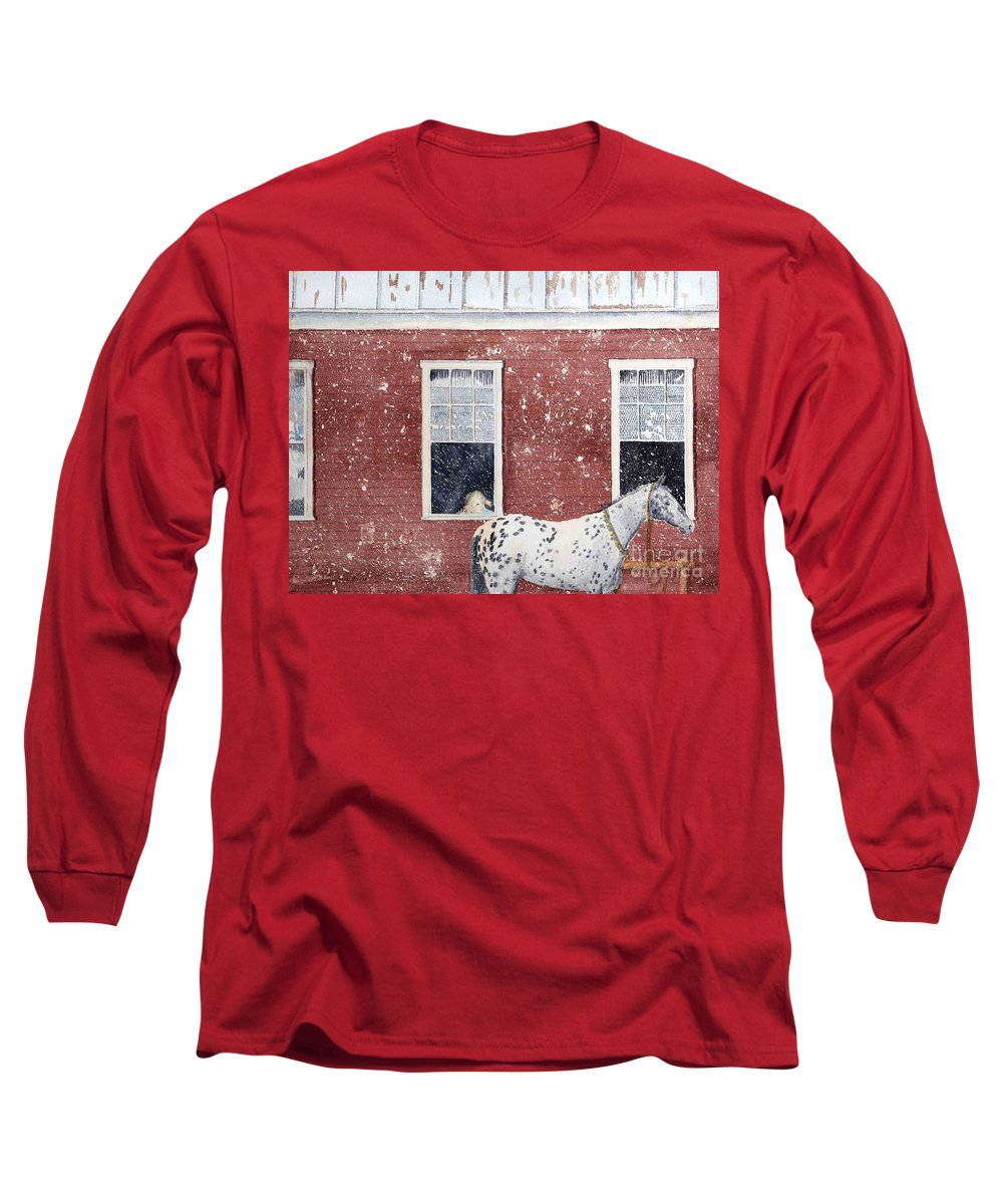 Horses Long Sleeve T-Shirt featuring the painting The Ride Home by LeAnne Sowa