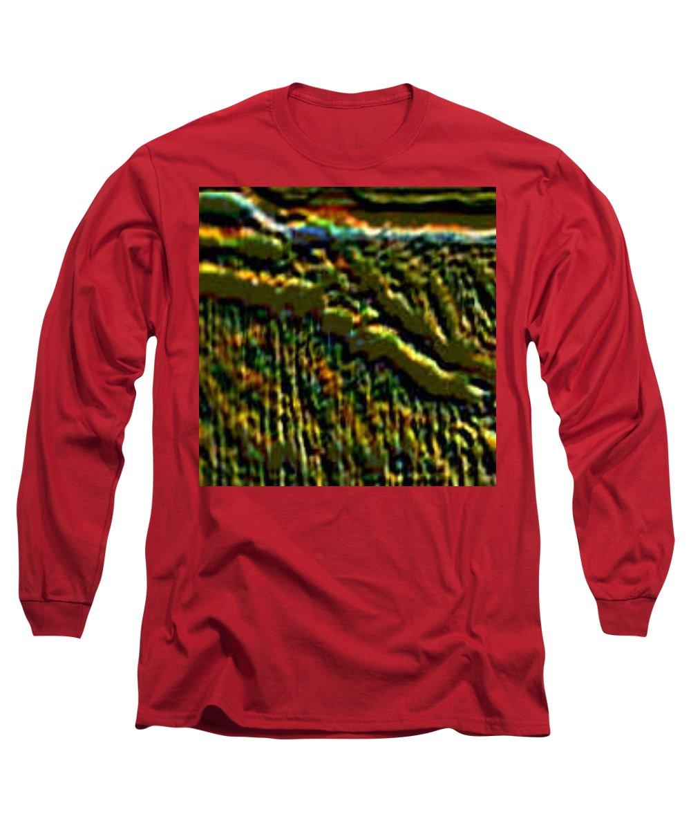 Canyons Long Sleeve T-Shirt featuring the digital art South Rim- N -green Grandeur by Brenda L Spencer