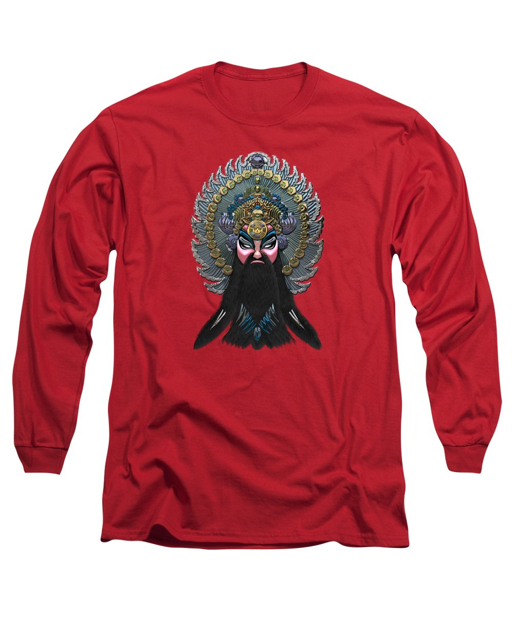 �treasures Of China� By Serge Averbukh Long Sleeve T-Shirt featuring the photograph Chinese Masks - Large Masks Series - The Emperor by Serge Averbukh