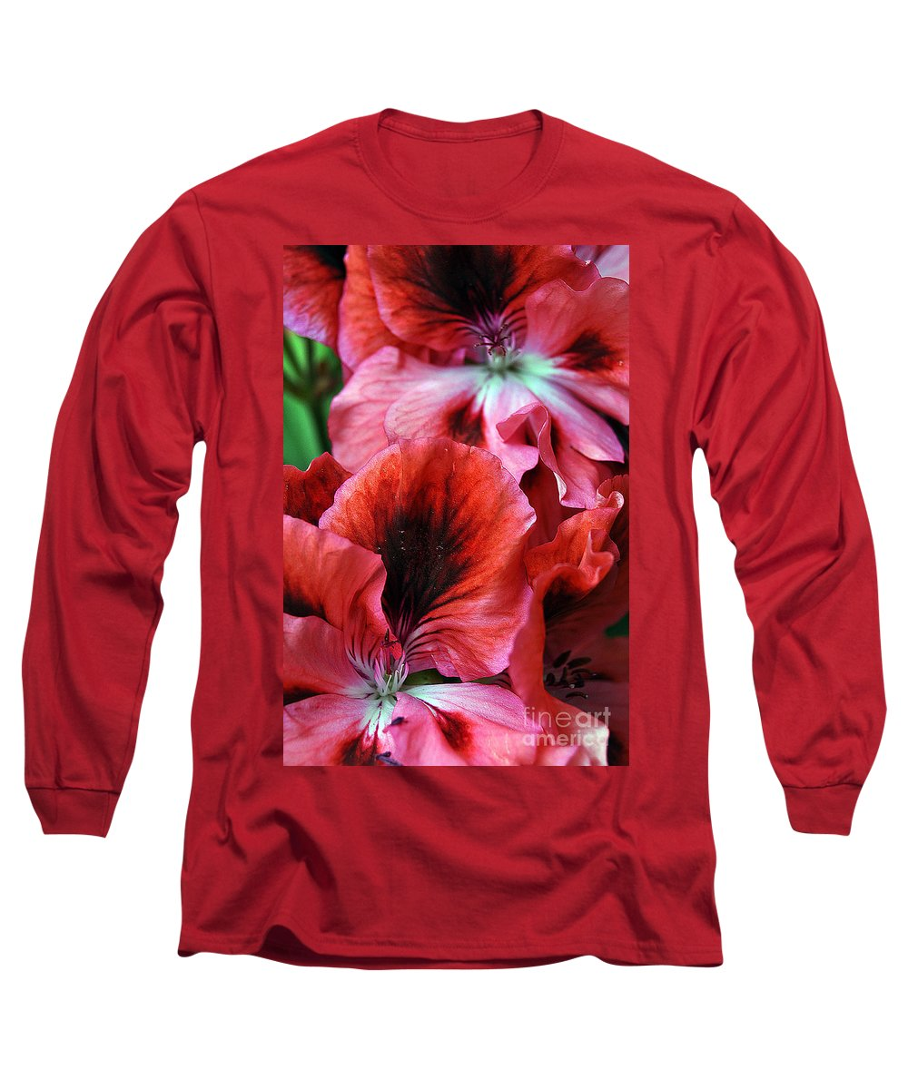 Clay Long Sleeve T-Shirt featuring the photograph Red Floral by Clayton Bruster