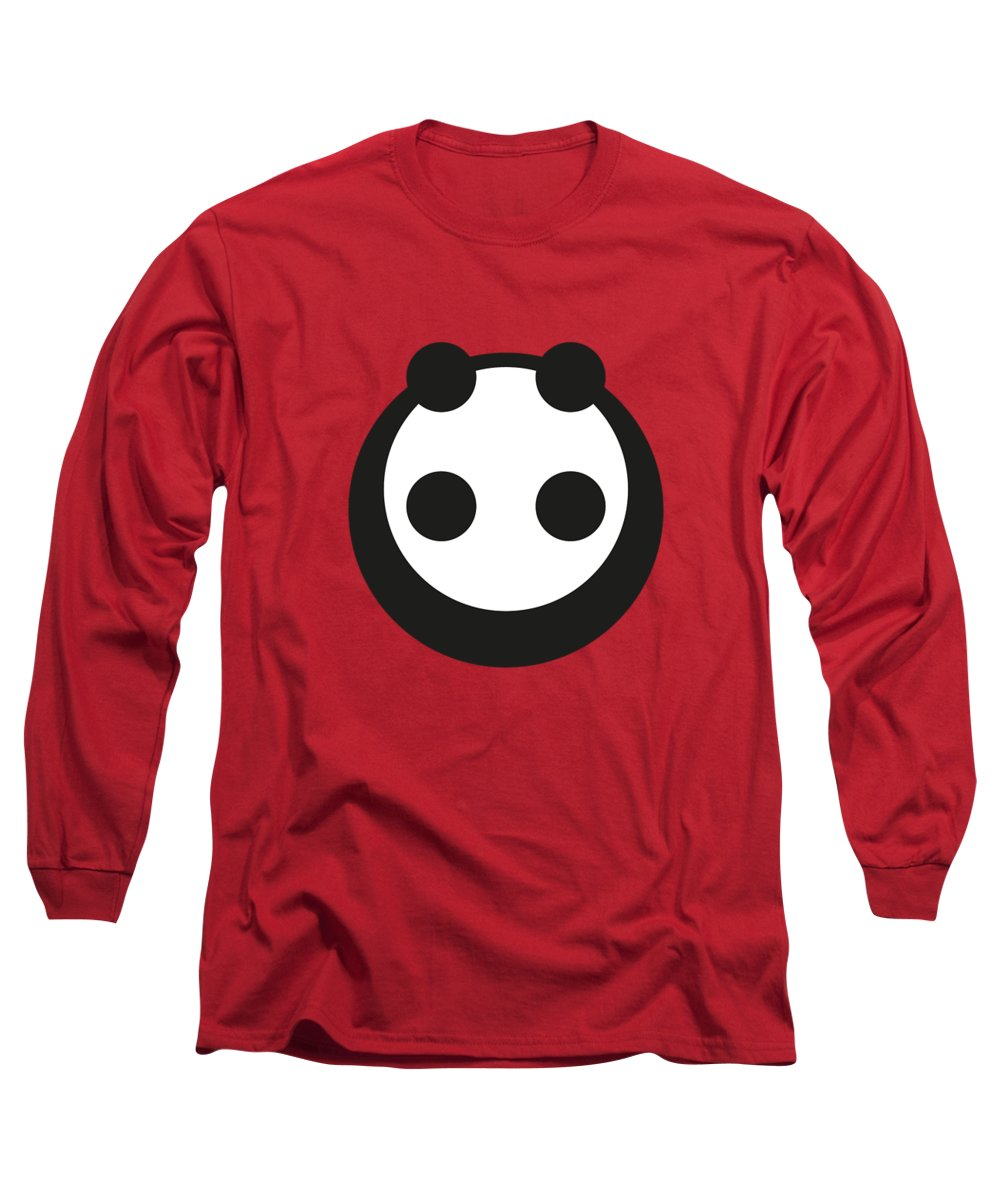 Panda Long Sleeve T-Shirt featuring the digital art A Most Minimalist Panda by Nicholas Ely