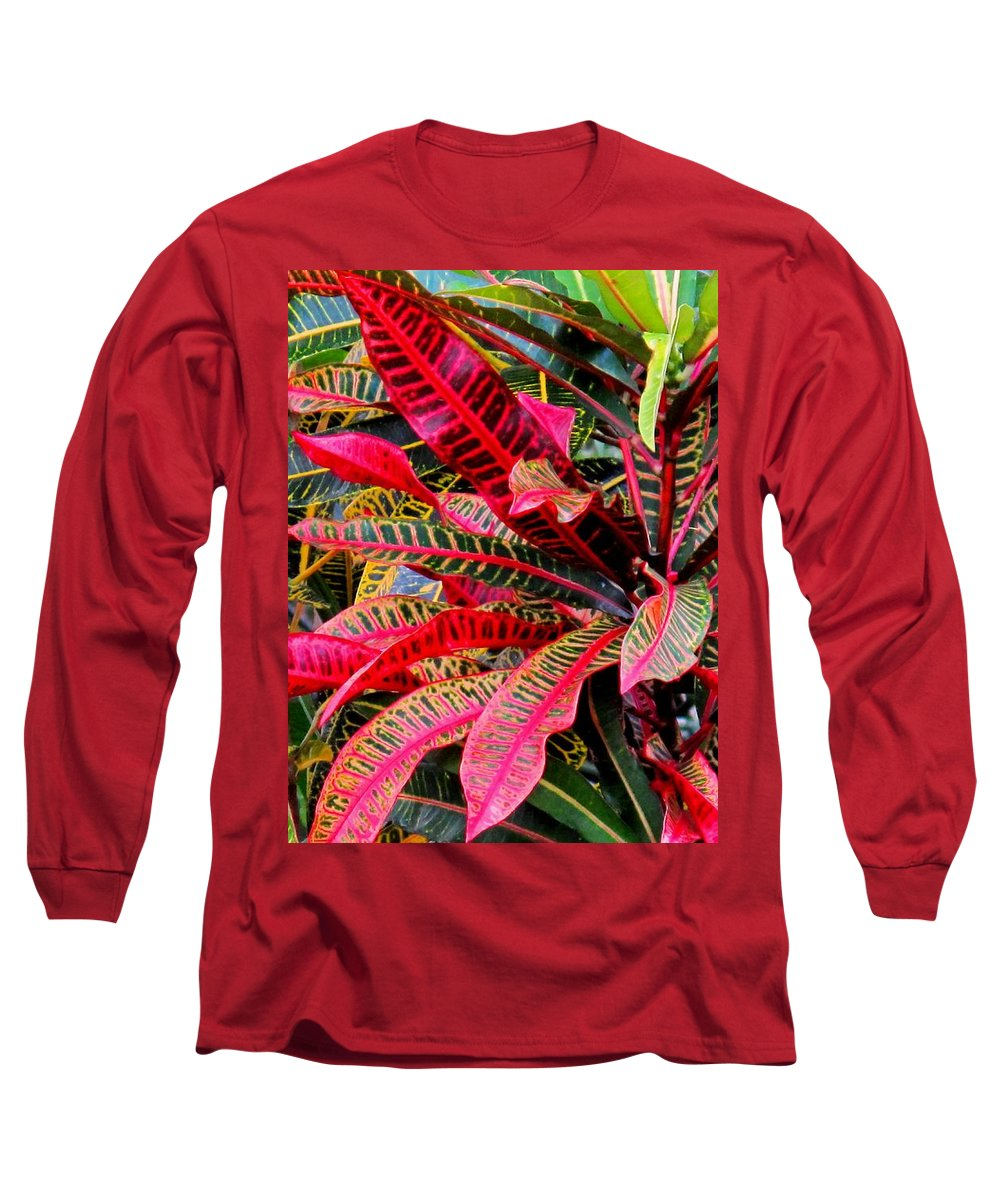 Red Long Sleeve T-Shirt featuring the photograph A Rich Composition by Ian MacDonald