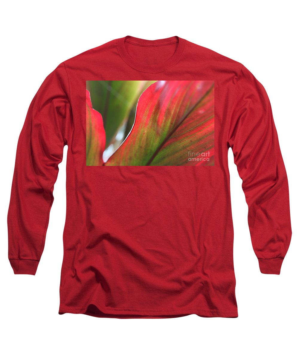 Pink Long Sleeve T-Shirt featuring the photograph Abstract Leaves by Nadine Rippelmeyer