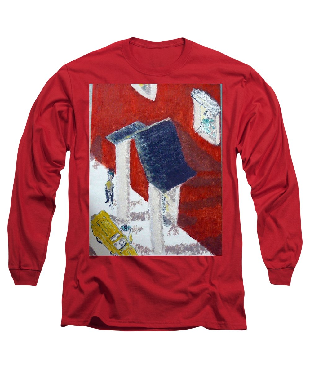 Social Realiism Long Sleeve T-Shirt featuring the painting Accessories by R B