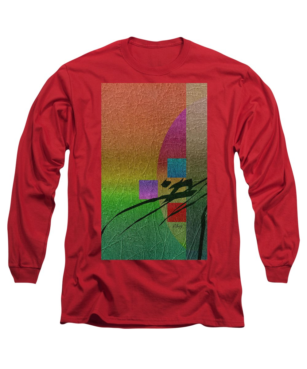 Contemporary Long Sleeve T-Shirt featuring the digital art All Is Well by Gordon Beck