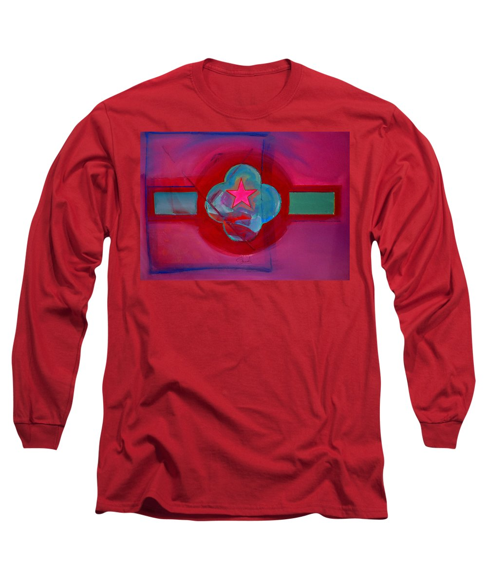 Star Long Sleeve T-Shirt featuring the painting American Spiritual Decal by Charles Stuart