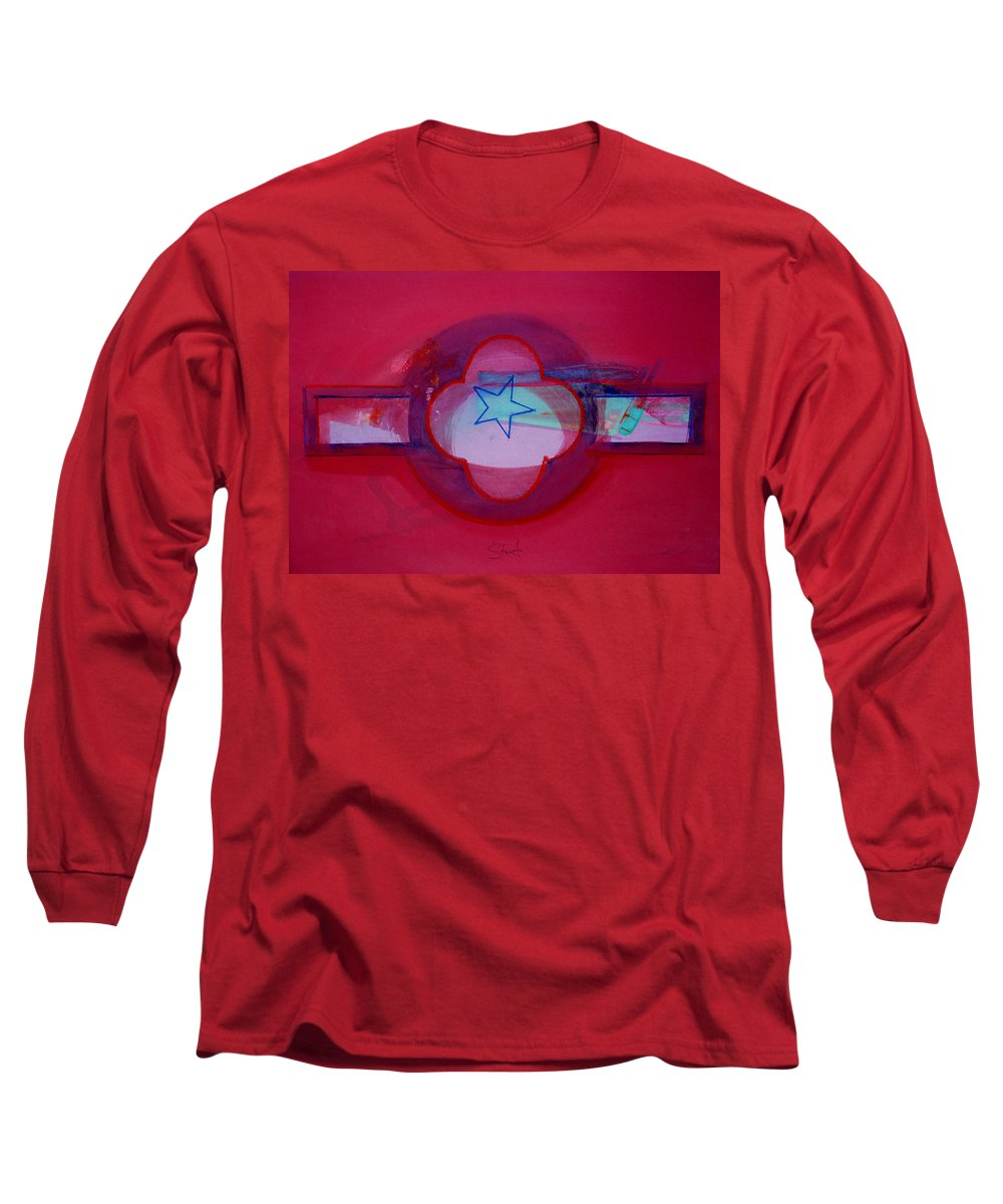 Star Long Sleeve T-Shirt featuring the painting American Star Of The Sea by Charles Stuart