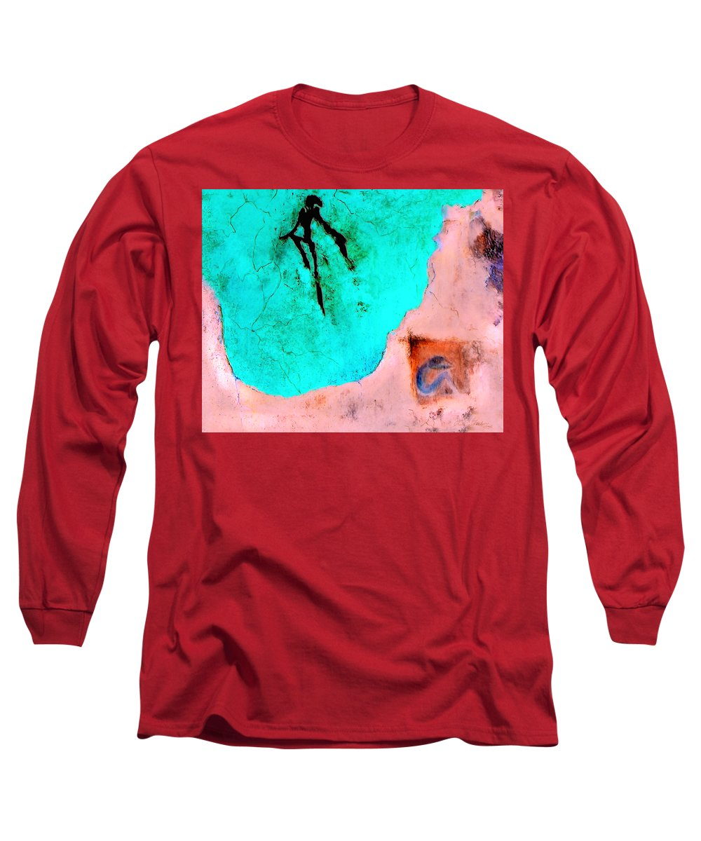 Spirit Afterlife Innerself Soul Fly Long Sleeve T-Shirt featuring the painting And The Spirit Moved by Veronica Jackson