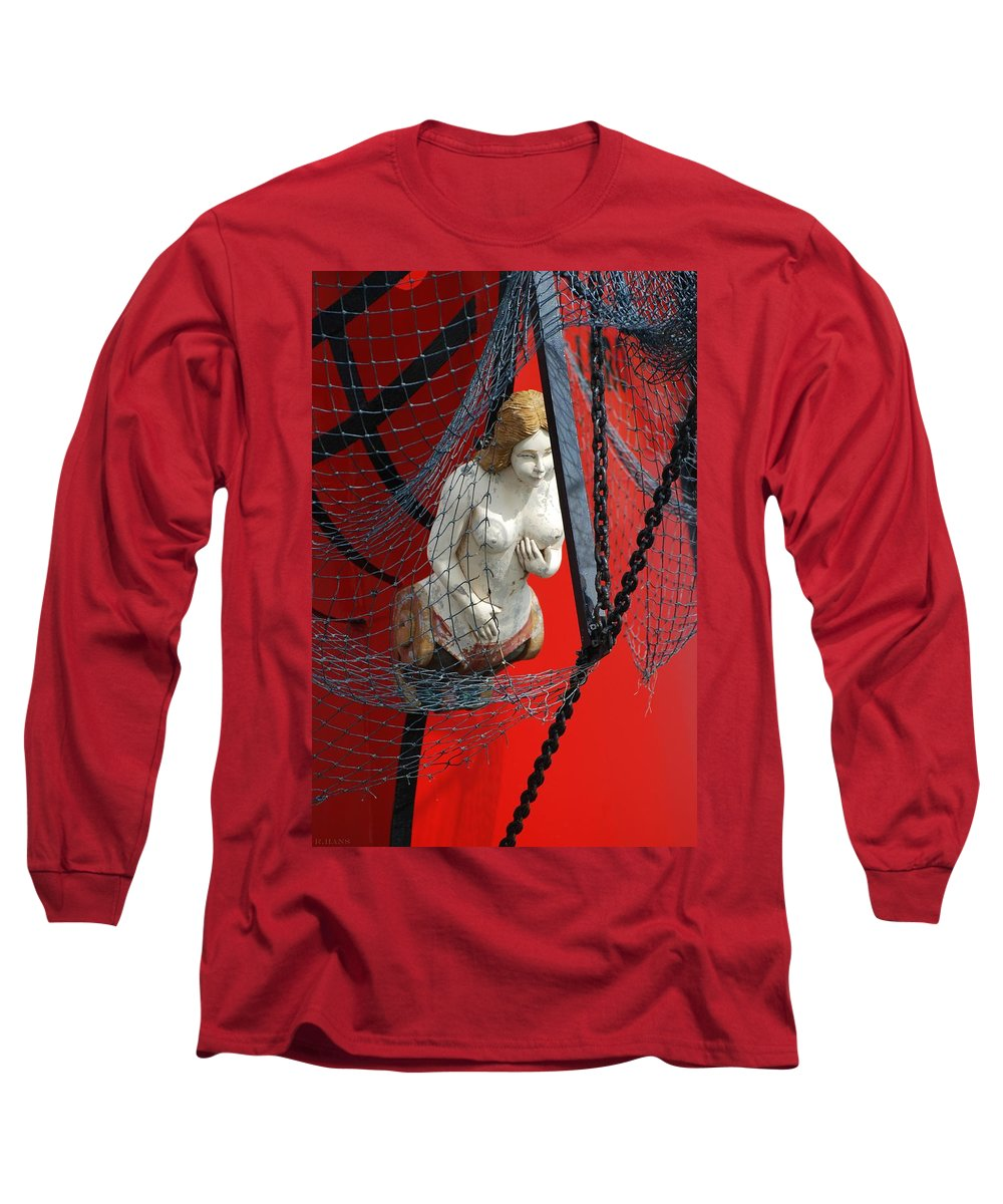 Ship Long Sleeve T-Shirt featuring the photograph Angel Of The Seas by Rob Hans