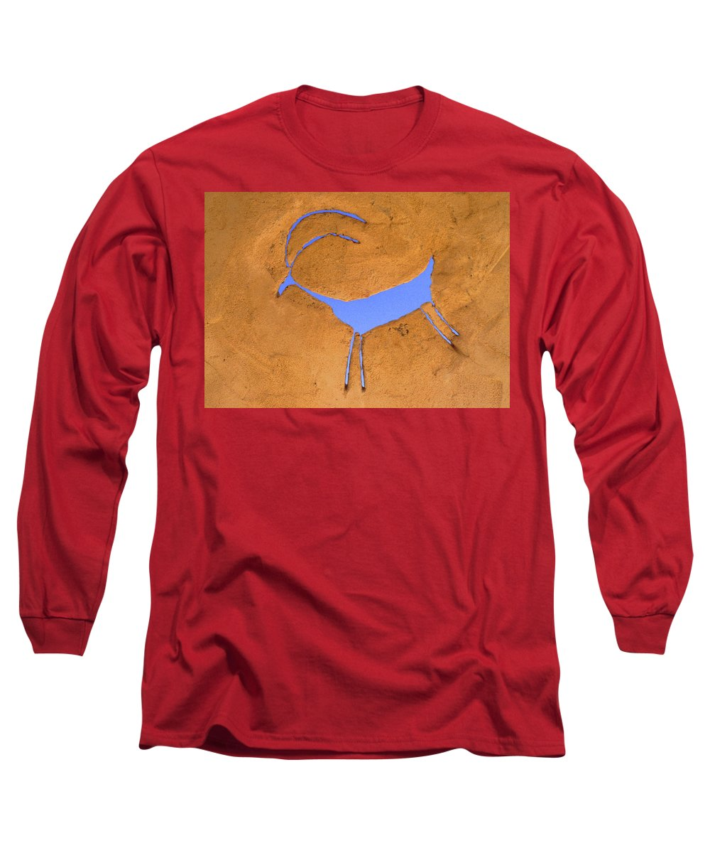 Anasazi Long Sleeve T-Shirt featuring the photograph Antelope Petroglyph by Jerry McElroy