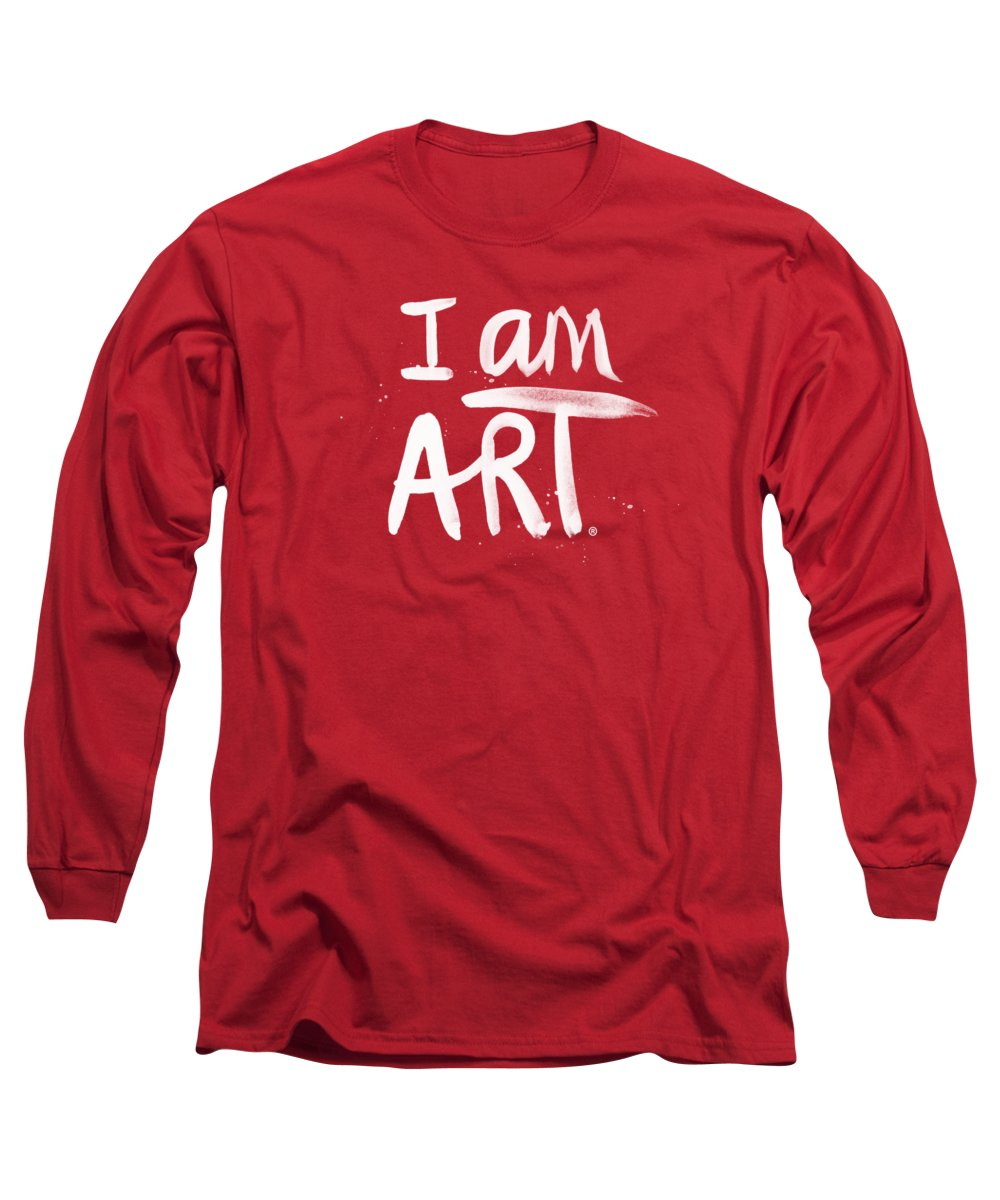 I Am Art Long Sleeve T-Shirt featuring the mixed media I Am Art- Painted by Linda Woods