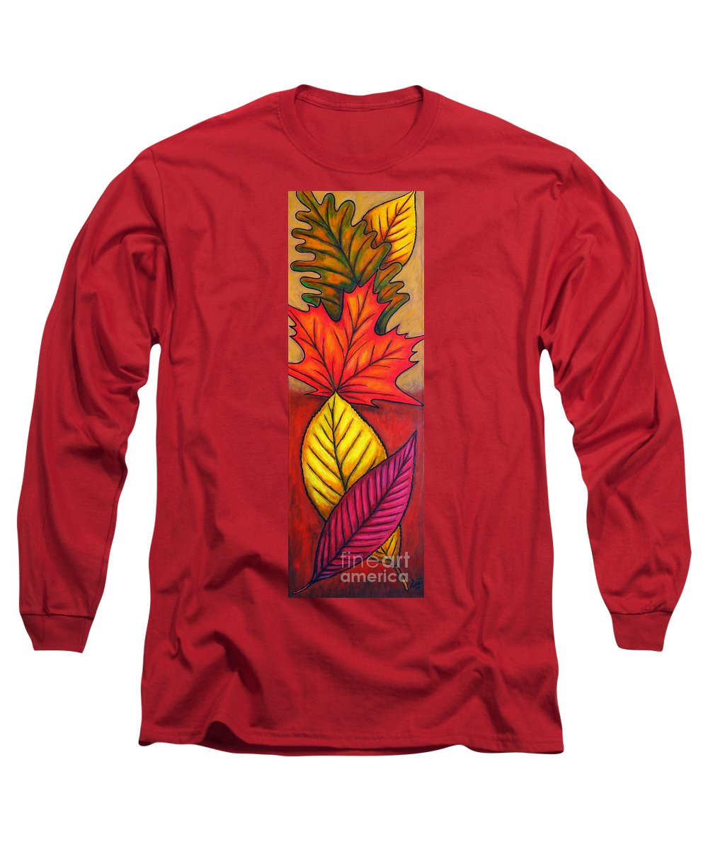 Autumn Long Sleeve T-Shirt featuring the painting Autumn Glow by Lisa Lorenz