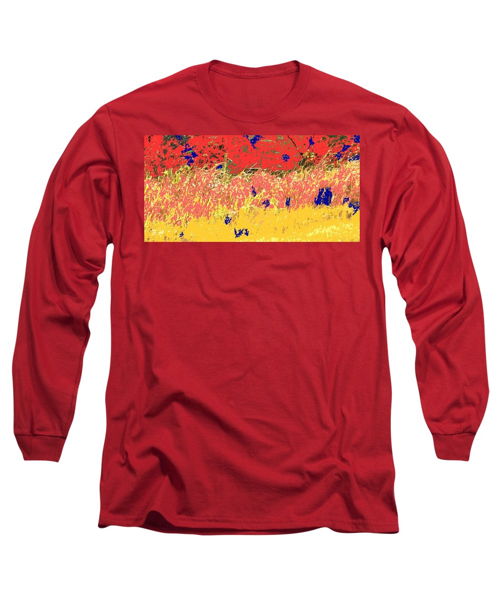 Autumn Long Sleeve T-Shirt featuring the photograph Autumn Grasses by Ian MacDonald