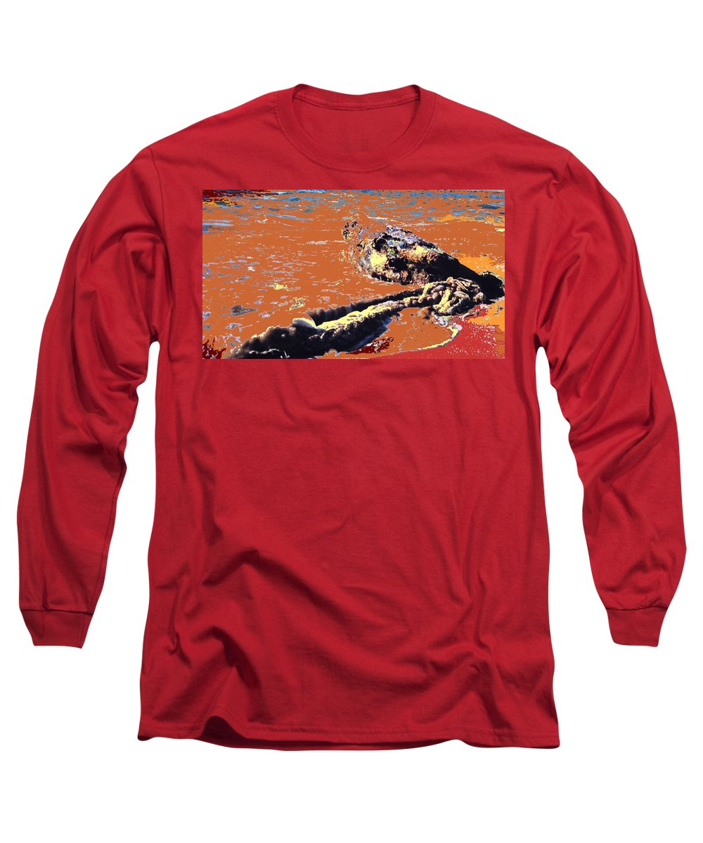 Rope Long Sleeve T-Shirt featuring the photograph Beach Rope by Ian MacDonald