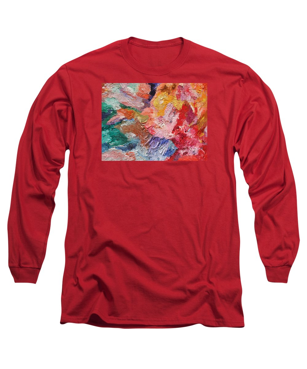 Fusionart Long Sleeve T-Shirt featuring the painting Birth Of Passion by Ralph White