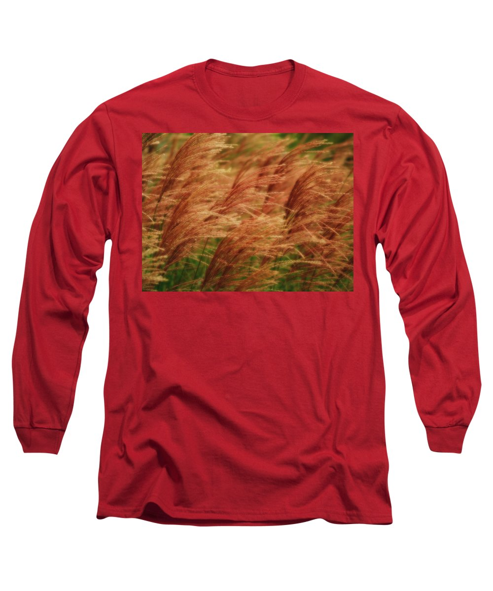 Win Long Sleeve T-Shirt featuring the photograph Blowing In The Wind by Gaby Swanson