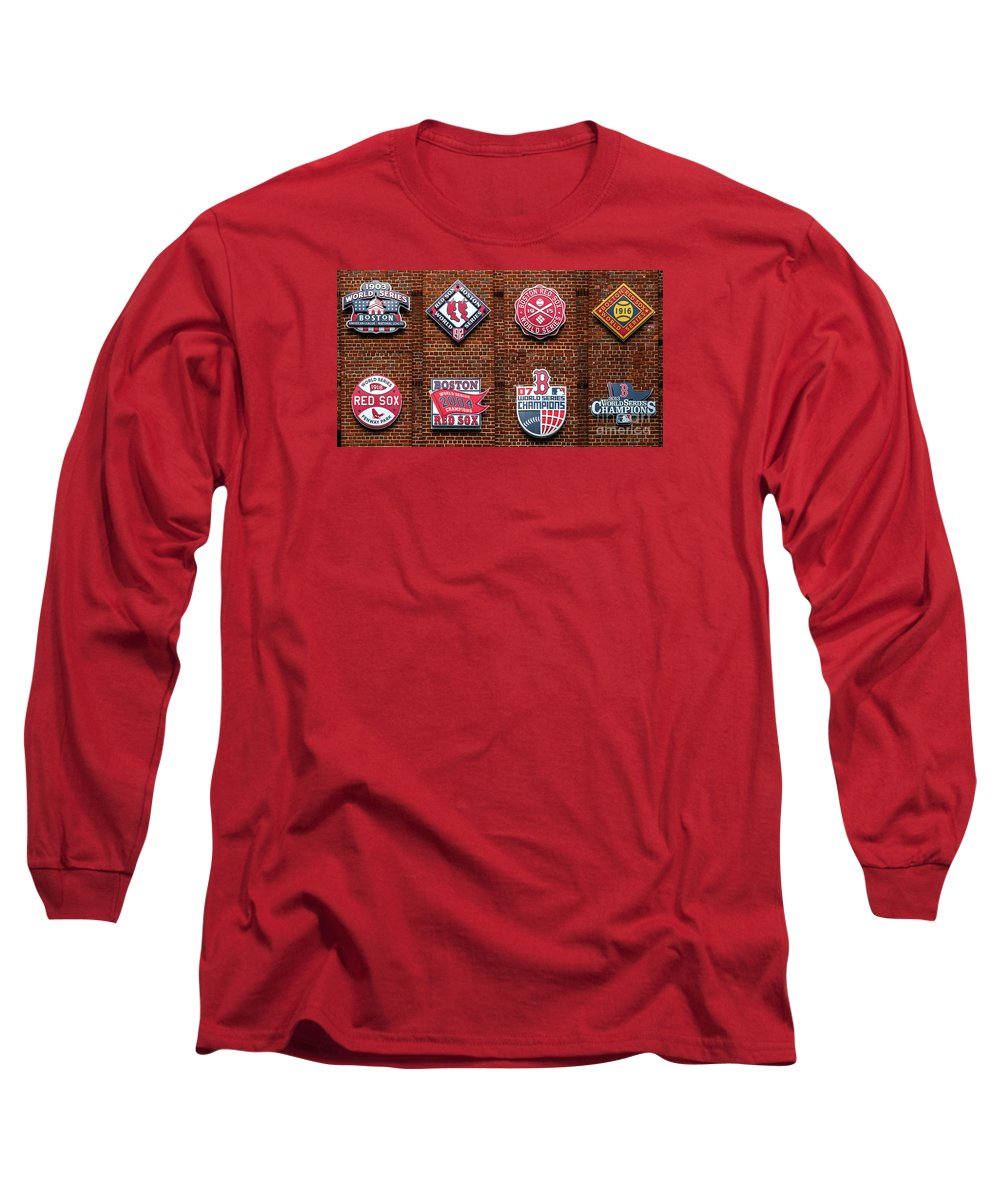 fdb7a551 Boston Red Sox World Series Emblems Long Sleeve T-Shirt for Sale by Diane  Diederich