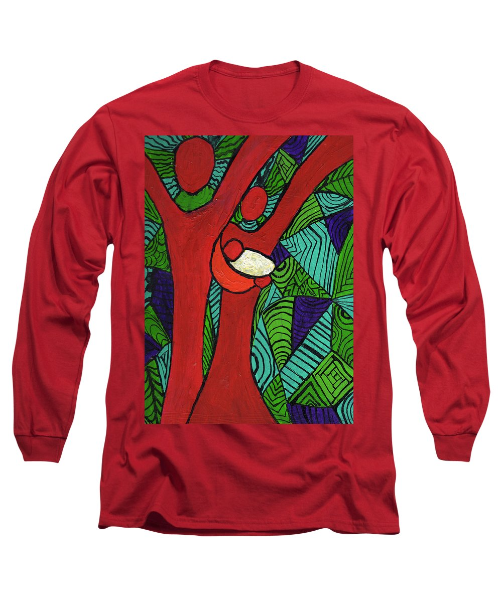 Family Long Sleeve T-Shirt featuring the painting Bright New Day by Wayne Potrafka