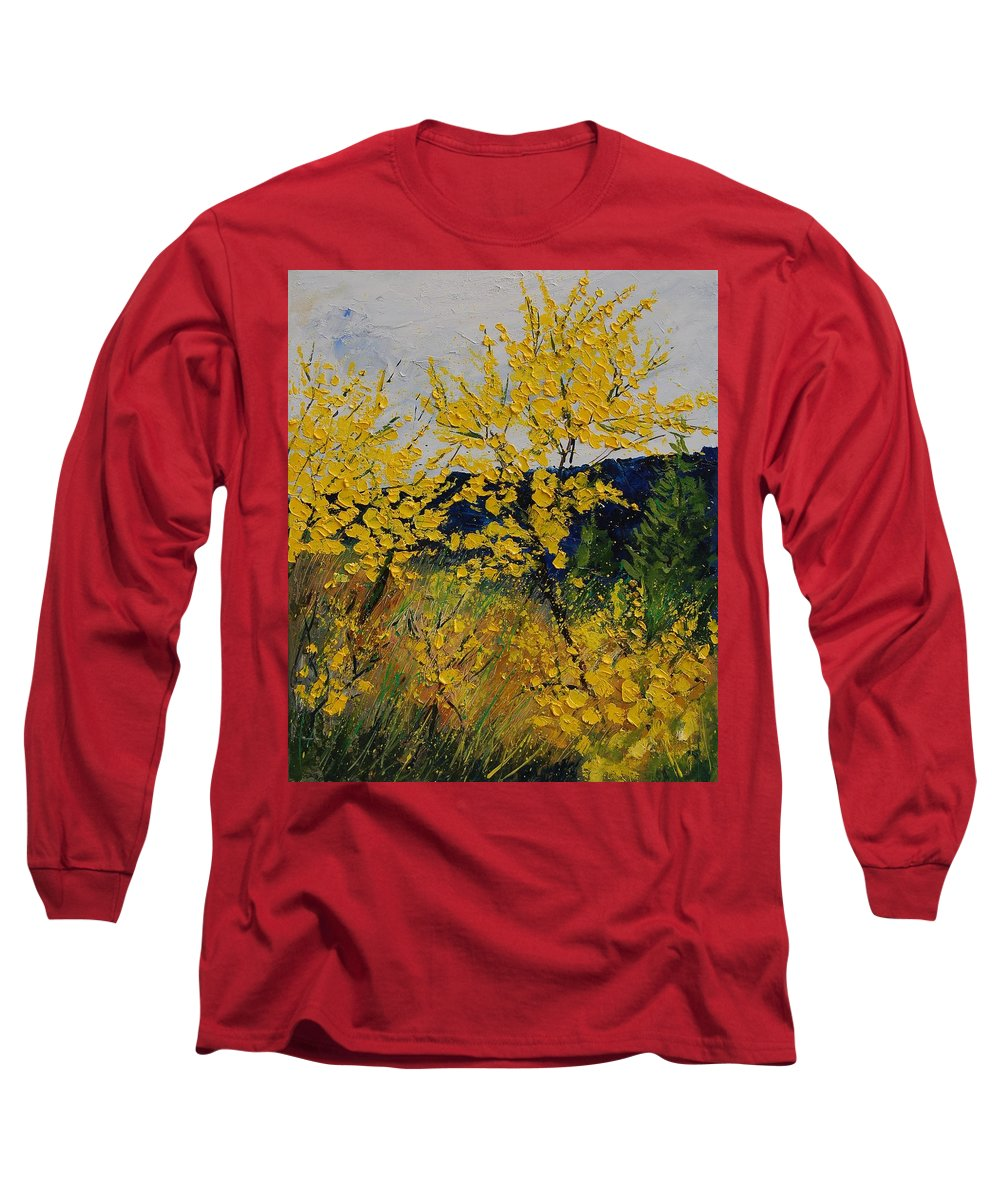 Flowers Long Sleeve T-Shirt featuring the painting Brooms by Pol Ledent