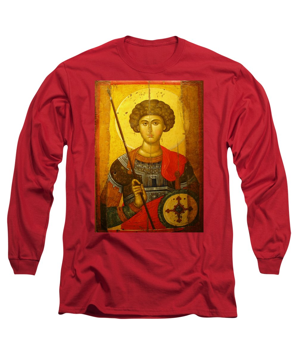 Byzantine Knight Long Sleeve T-Shirt featuring the photograph Byzantine Knight by Ellen Henneke
