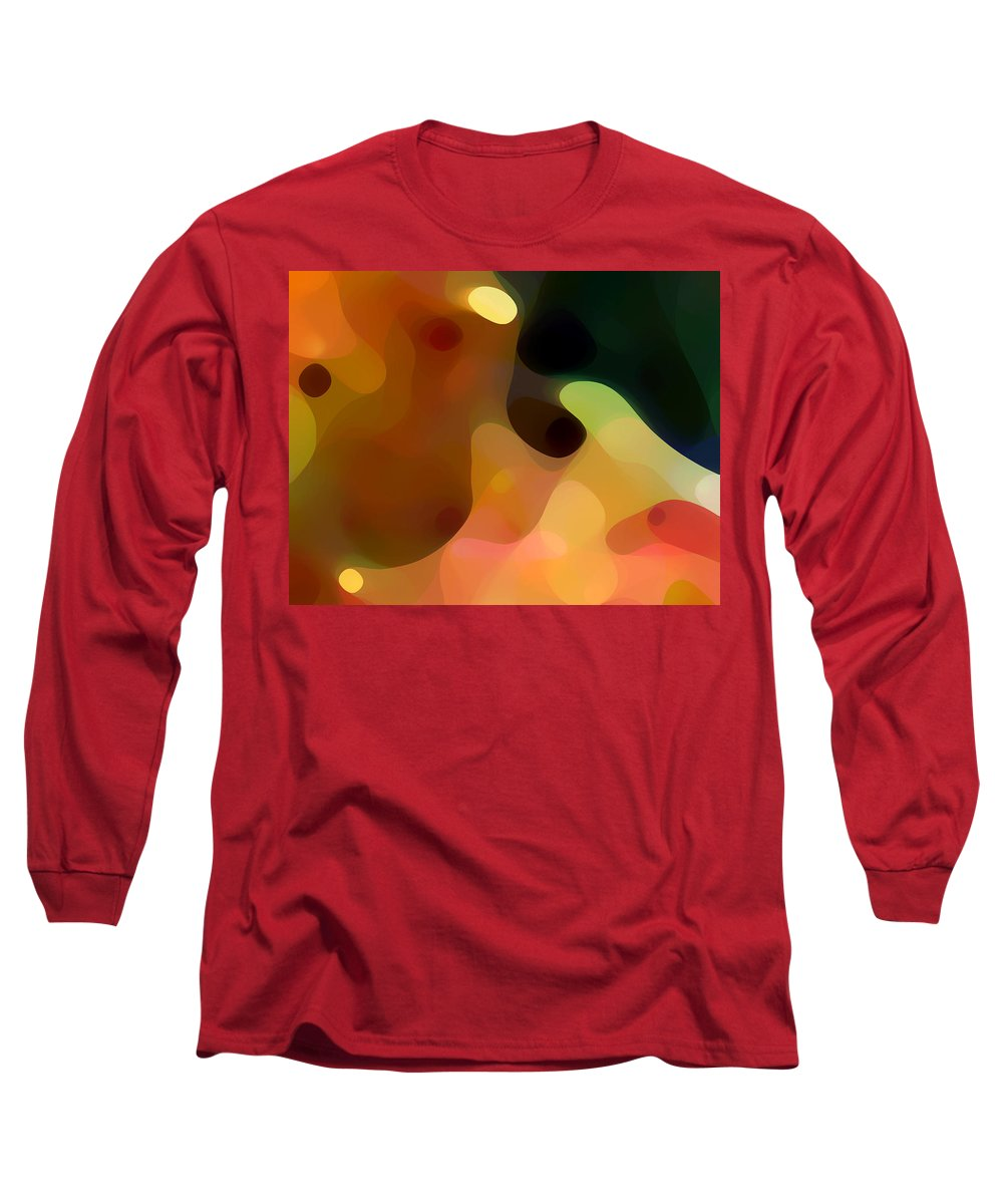 Bold Long Sleeve T-Shirt featuring the painting Cactus Fruit by Amy Vangsgard