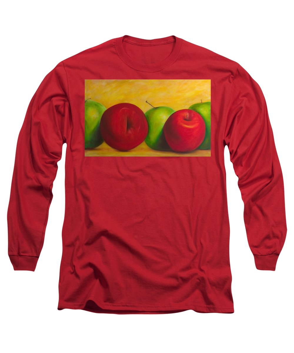 Still Life Long Sleeve T-Shirt featuring the painting Cancan by Shannon Grissom