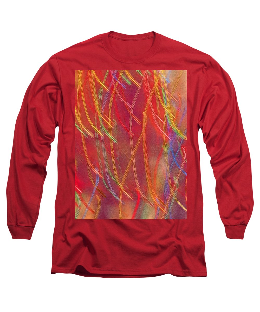 Abstract Long Sleeve T-Shirt featuring the photograph Celebration by Gaby Swanson