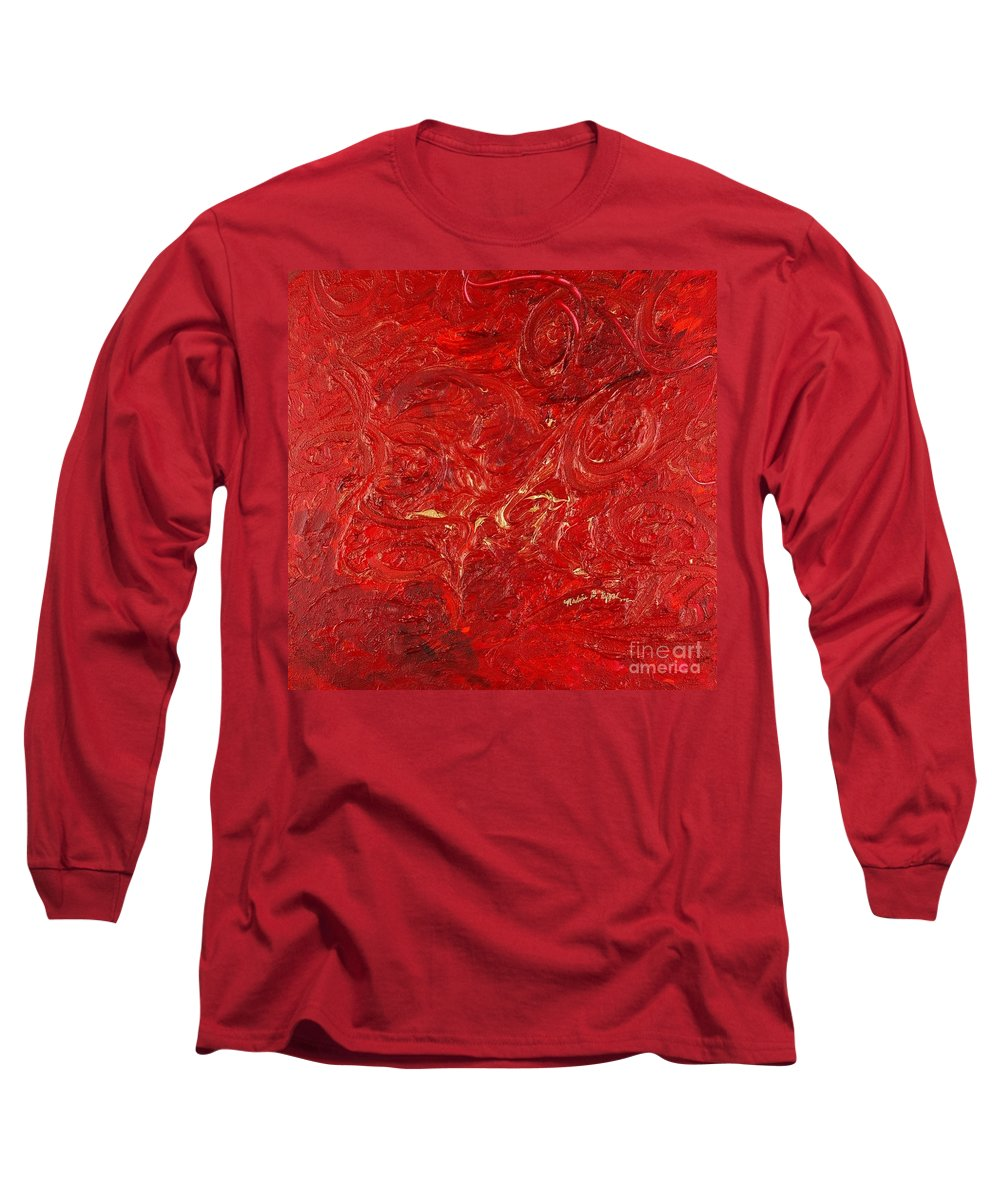 Red Long Sleeve T-Shirt featuring the painting Celebration by Nadine Rippelmeyer