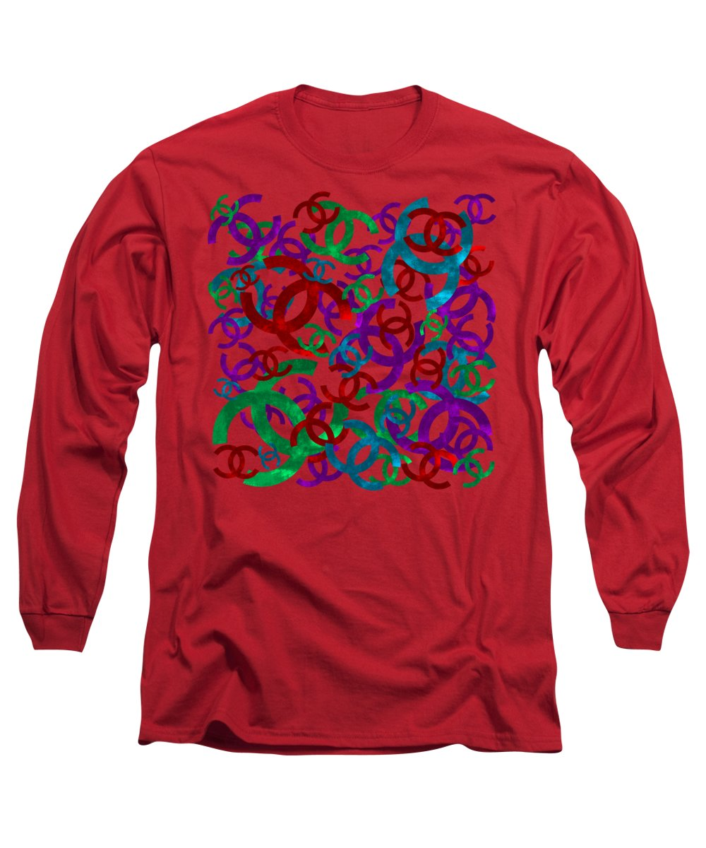 Chanel Long Sleeve T-Shirt featuring the painting Chanel Sign-7 by Nikita