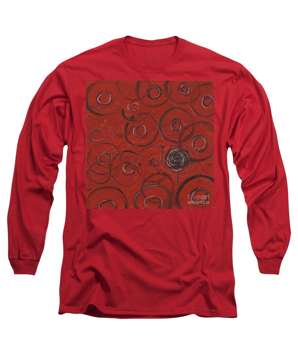 Red Long Sleeve T-Shirt featuring the painting Choices In Red by Nadine Rippelmeyer