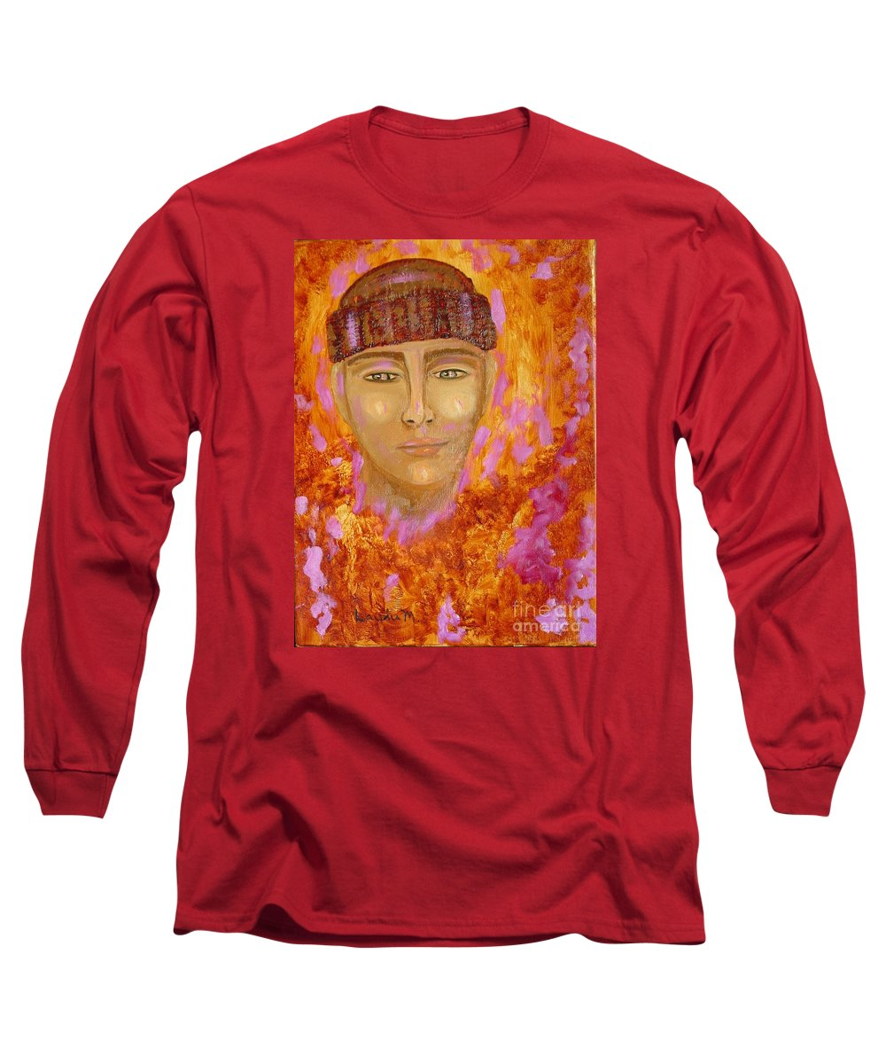 Portrait Long Sleeve T-Shirt featuring the painting Choices by Laurie Morgan
