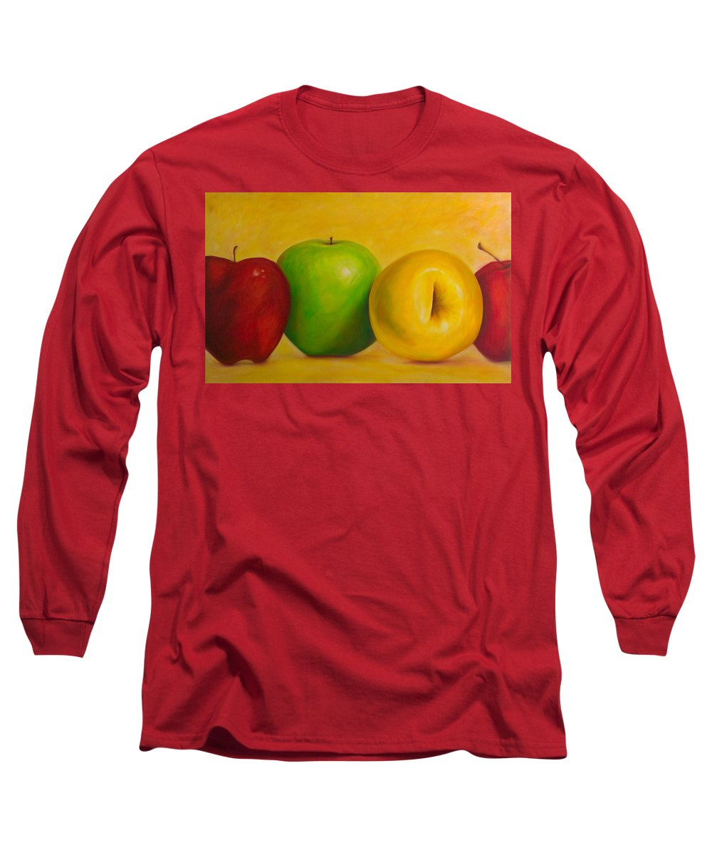 Still Life Long Sleeve T-Shirt featuring the painting Chorus Line by Shannon Grissom