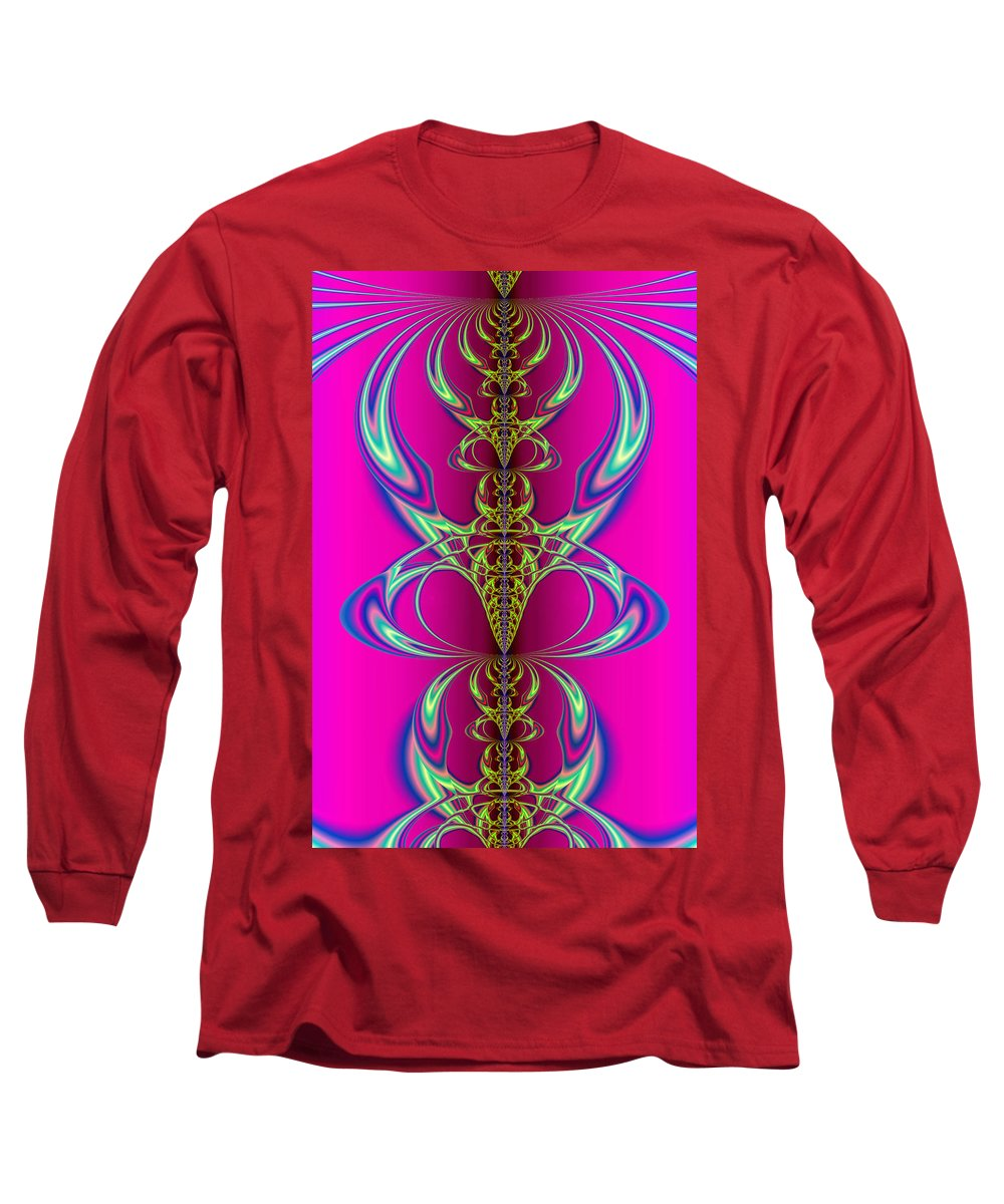 Abstract Long Sleeve T-Shirt featuring the digital art Claws by Frederic Durville