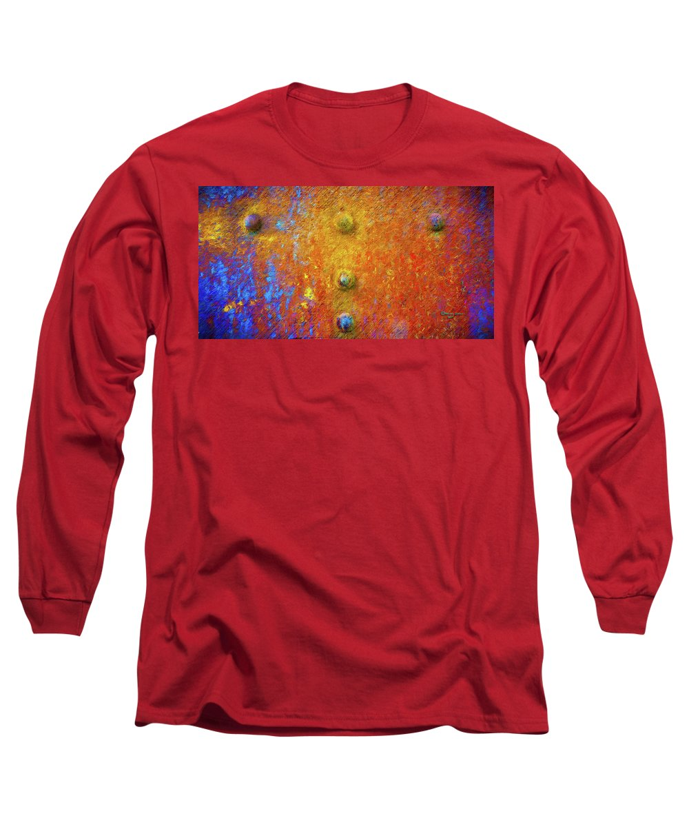 Steel Long Sleeve T-Shirt featuring the photograph Color Rivets by Marvin Spates