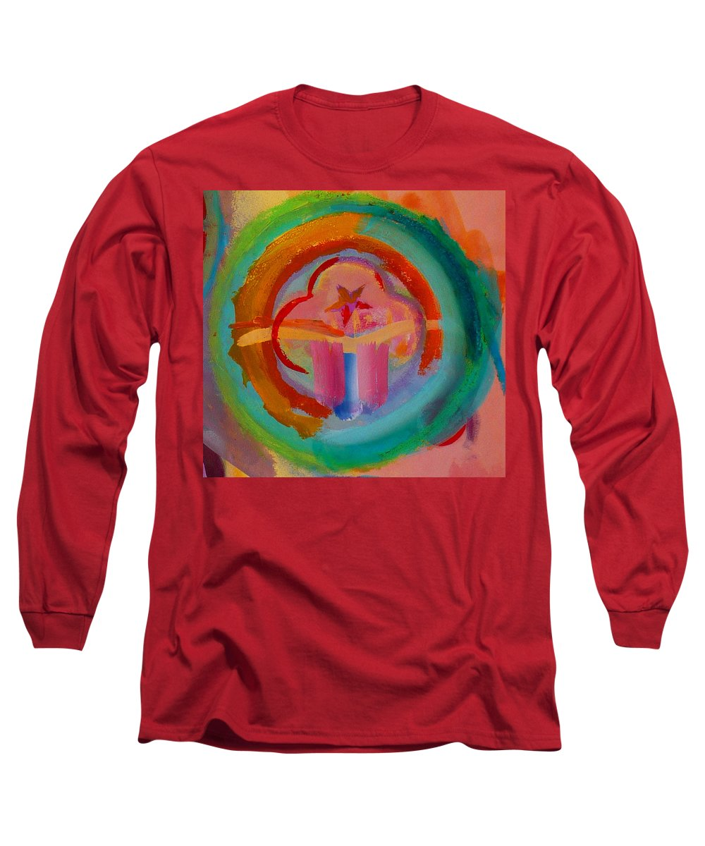 Logo Long Sleeve T-Shirt featuring the painting Colour States by Charles Stuart