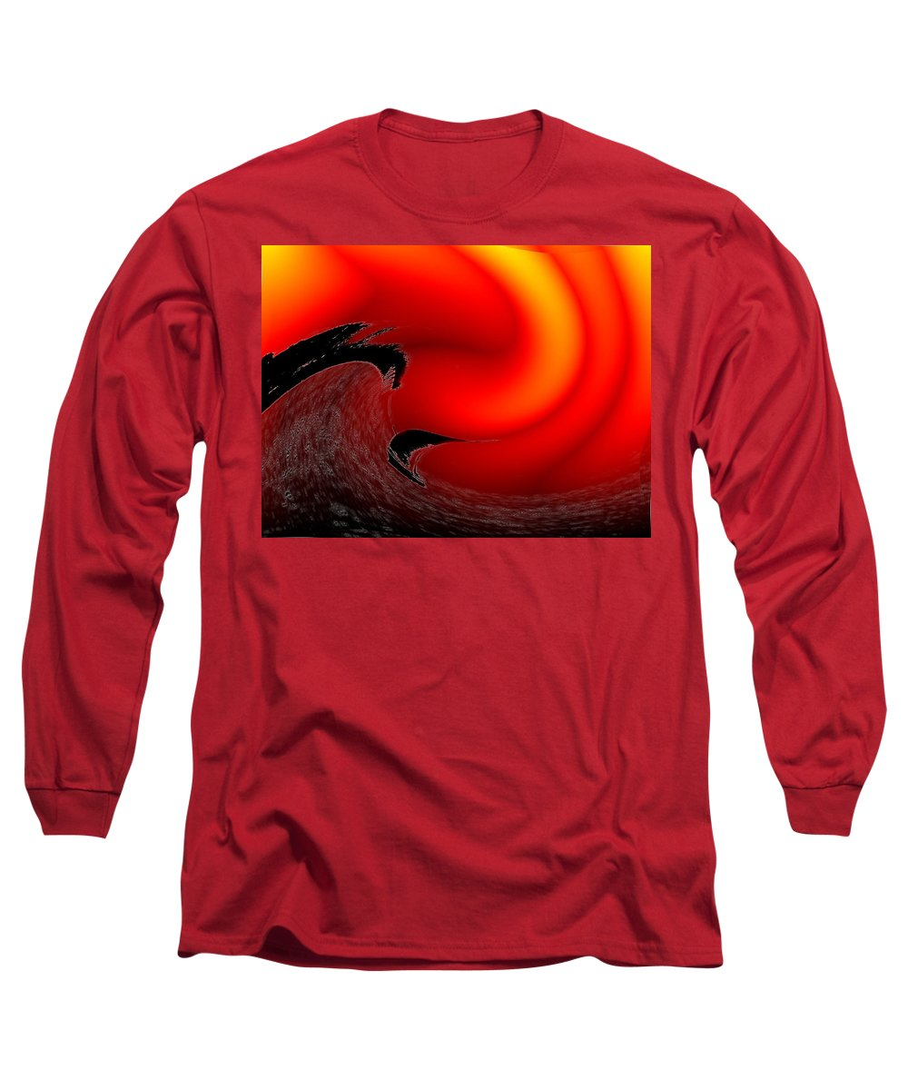 Danger Long Sleeve T-Shirt featuring the photograph Dangerous Waters Off Alki by Tim Allen