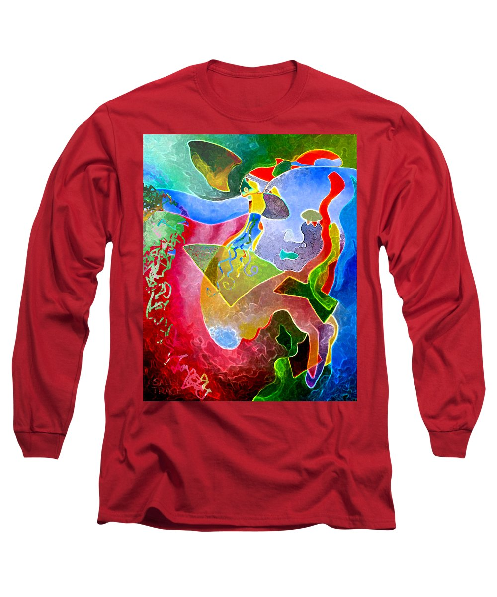 Coffee Long Sleeve T-Shirt featuring the painting Daydreams by Sally Trace