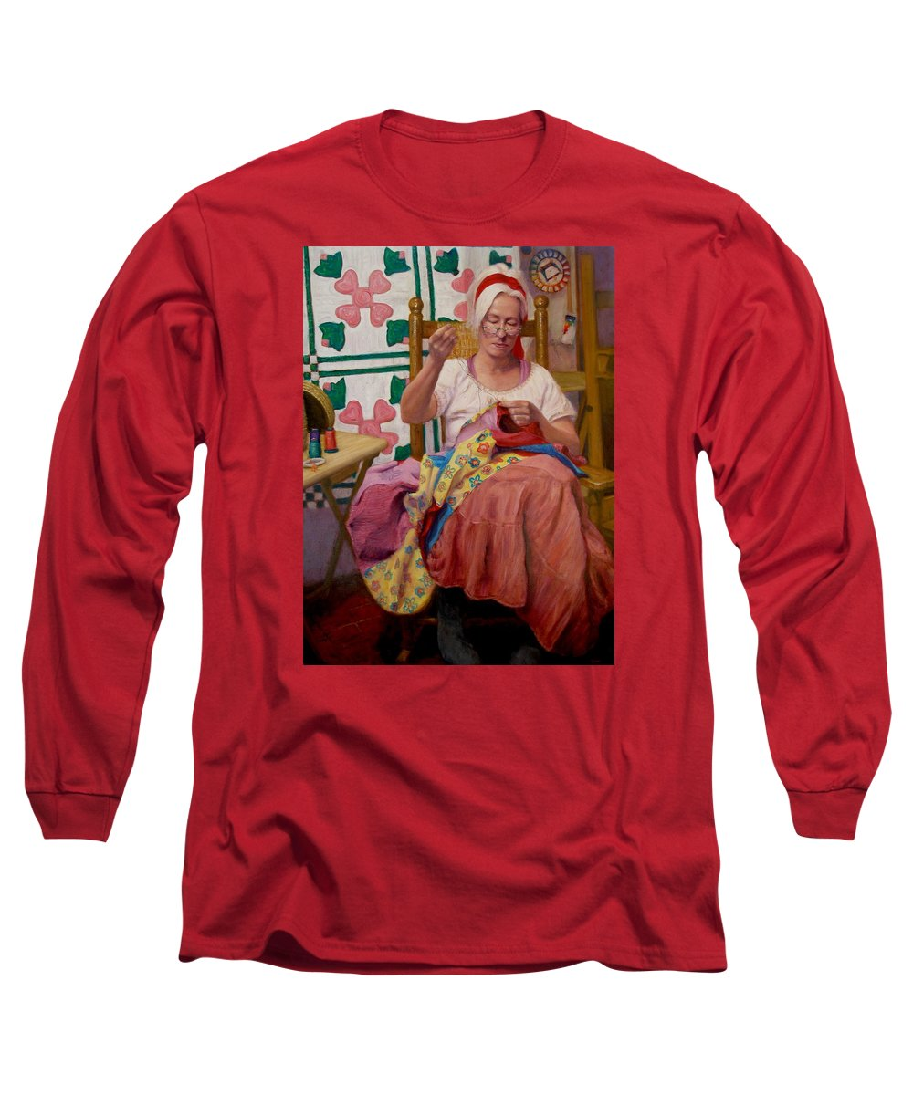 Realism Long Sleeve T-Shirt featuring the painting Desert Rose by Donelli DiMaria