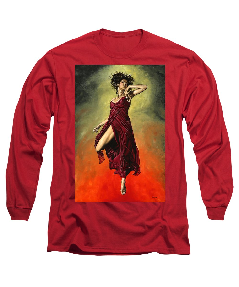 Dance Long Sleeve T-Shirt featuring the painting Destiny's Dance by Richard Young