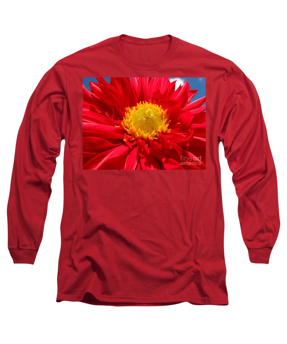 Dhalia Long Sleeve T-Shirt featuring the photograph Dhalia by Amanda Barcon