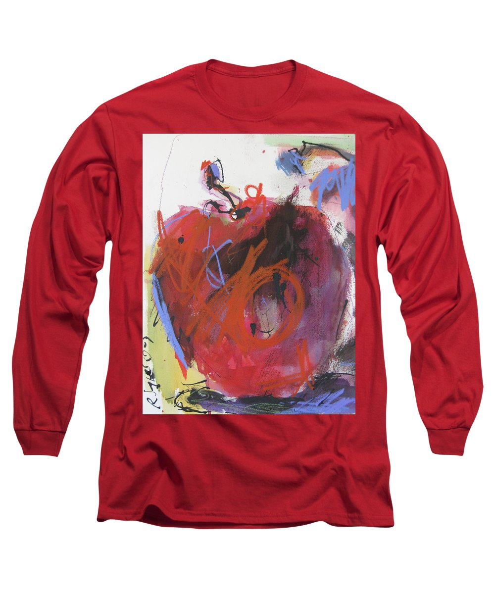 Apple Long Sleeve T-Shirt featuring the painting Dr. Repellent by Robert Joyner