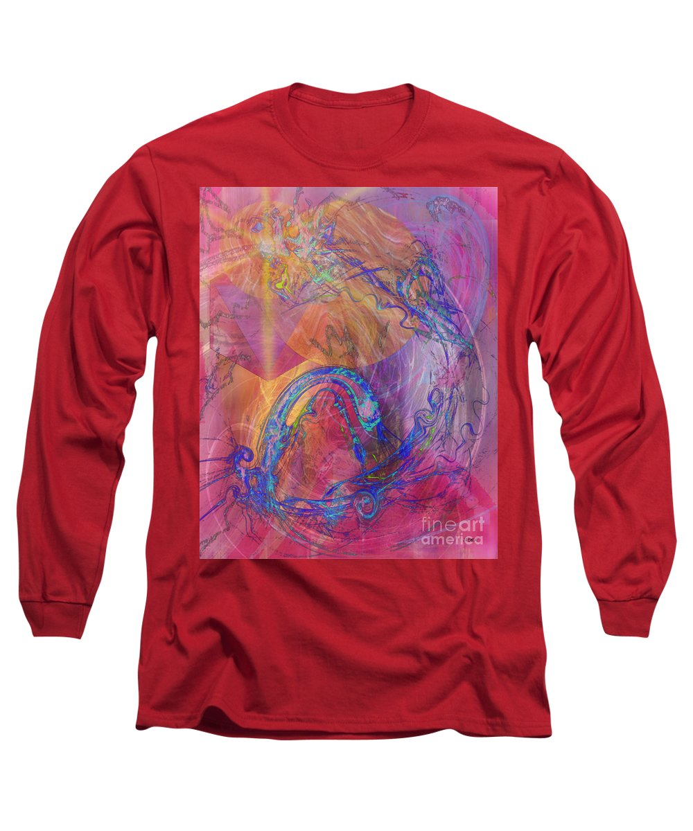 Dragon's Tale Long Sleeve T-Shirt featuring the digital art Dragon's Tale by John Beck