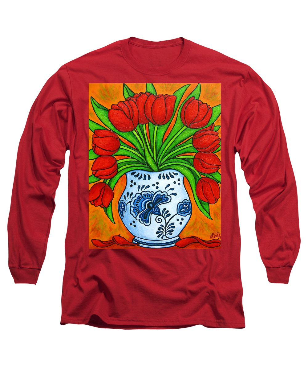 White Long Sleeve T-Shirt featuring the painting Dutch Delight by Lisa Lorenz