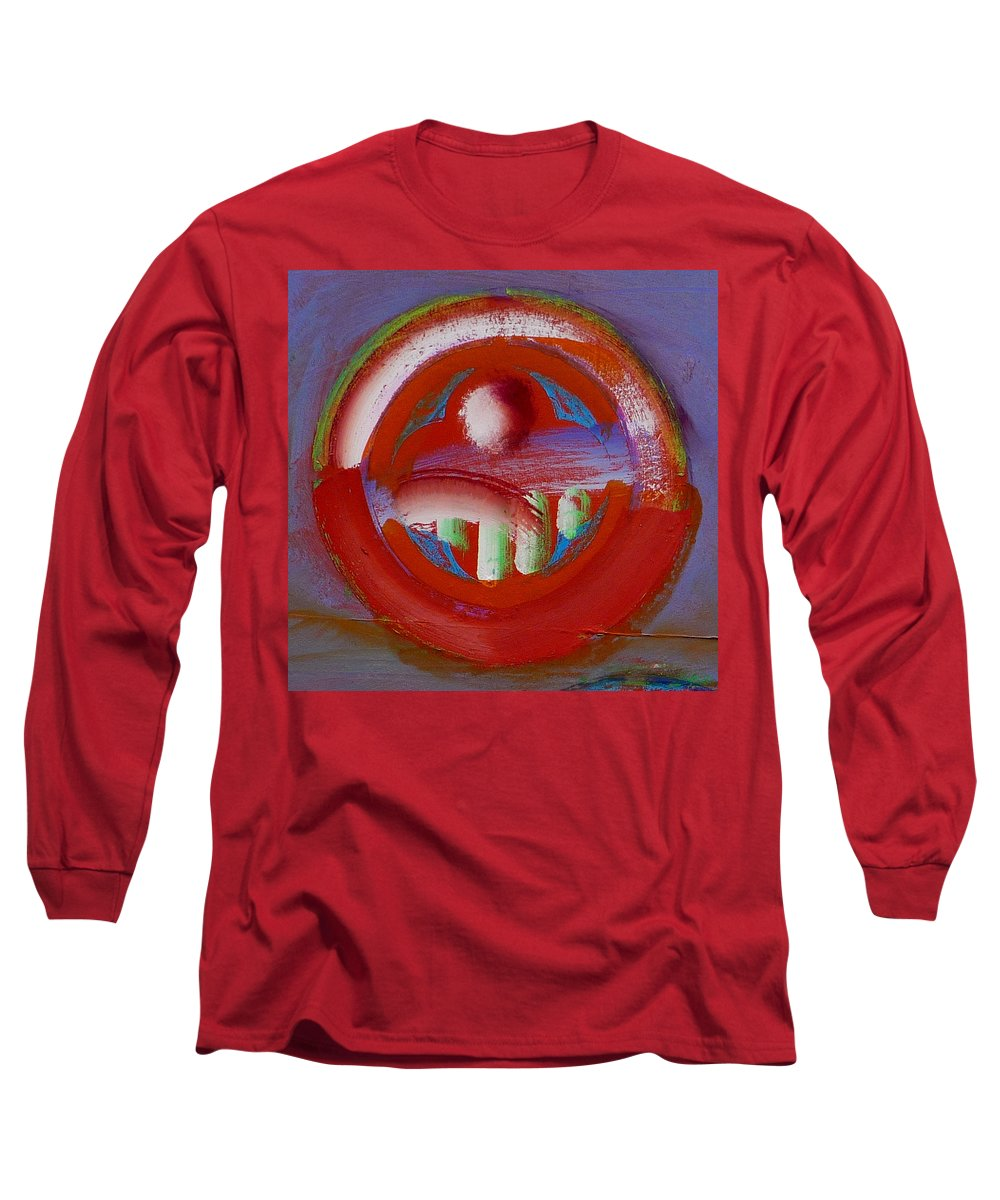 Love Long Sleeve T-Shirt featuring the painting Earth Button by Charles Stuart