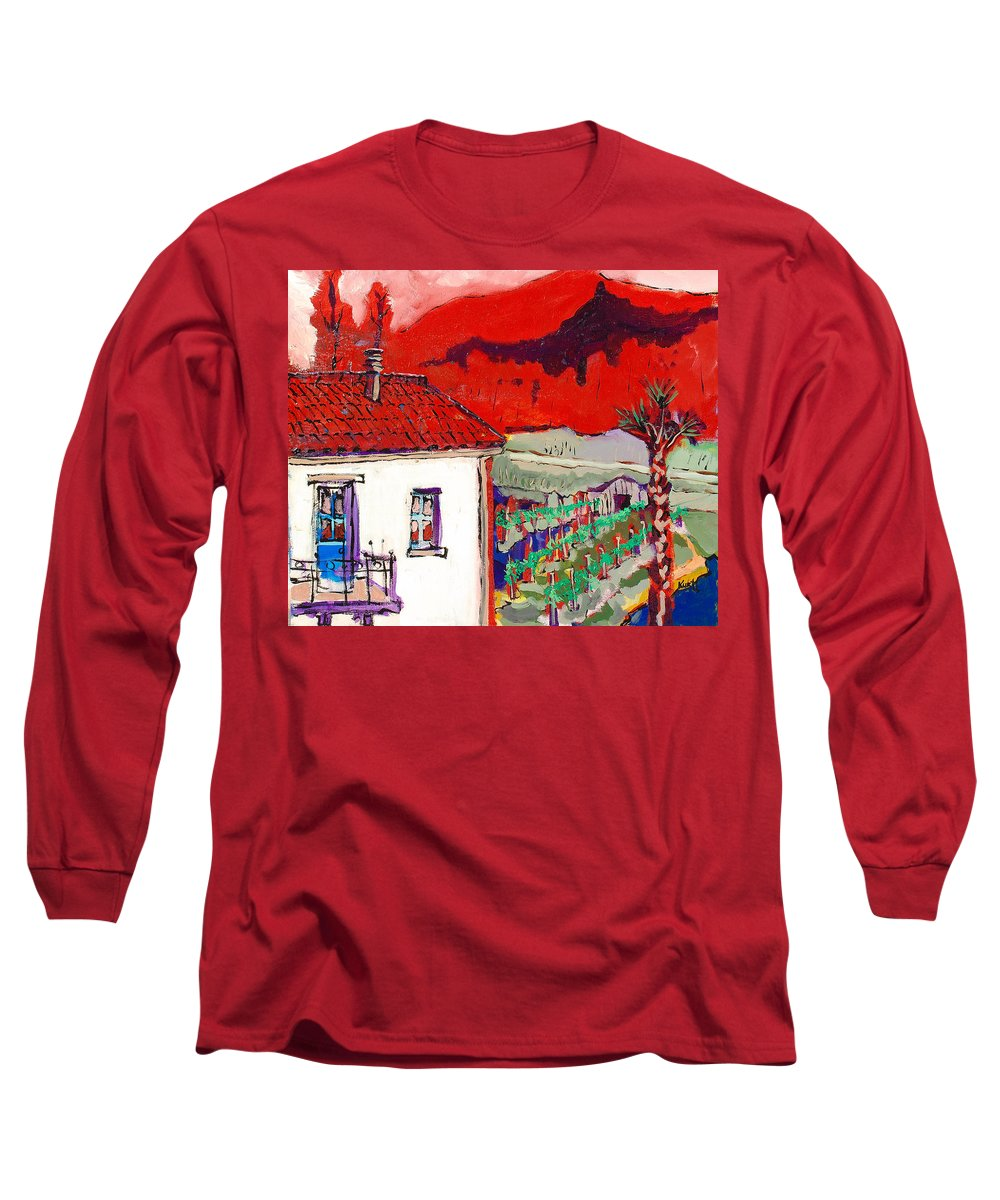 Long Sleeve T-Shirt featuring the painting Enrico's View by Kurt Hausmann