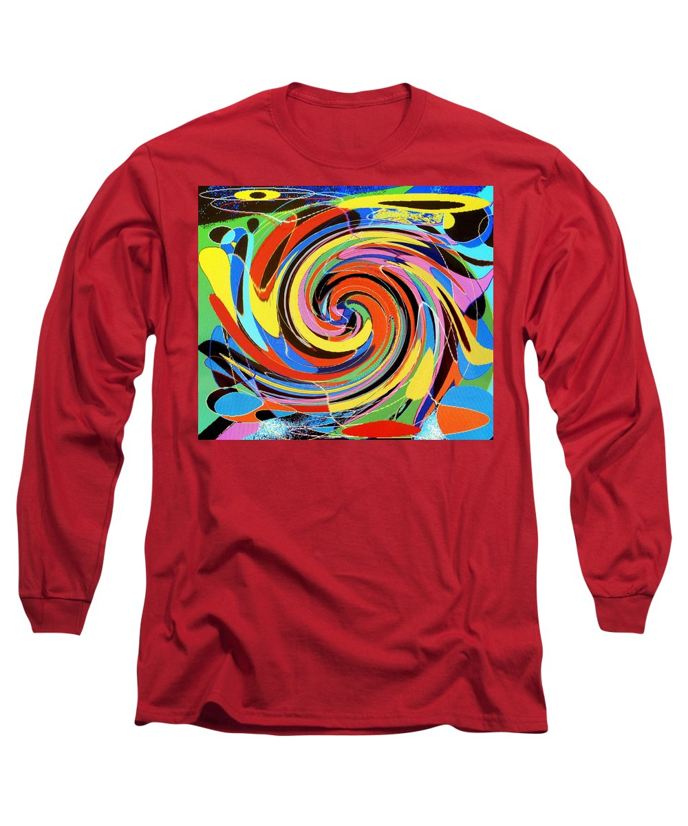 Long Sleeve T-Shirt featuring the digital art Escaping The Vortex by Ian MacDonald