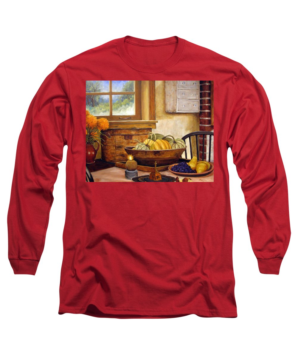 Fall Long Sleeve T-Shirt featuring the painting Fall Harvest by Richard T Pranke